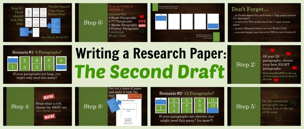 Writing a Research Paper Second Draft header