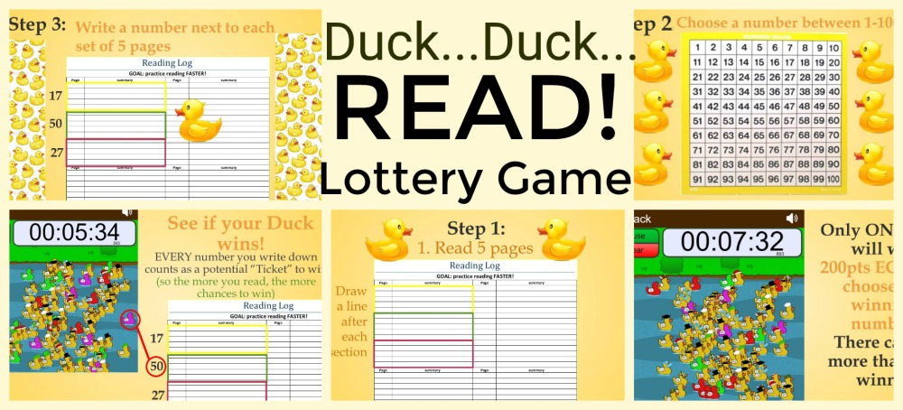 Duck Duck Read Lottery Game